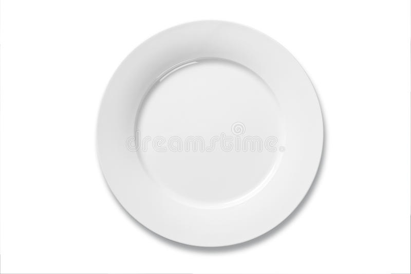 White dinner plate royalty free stock photo