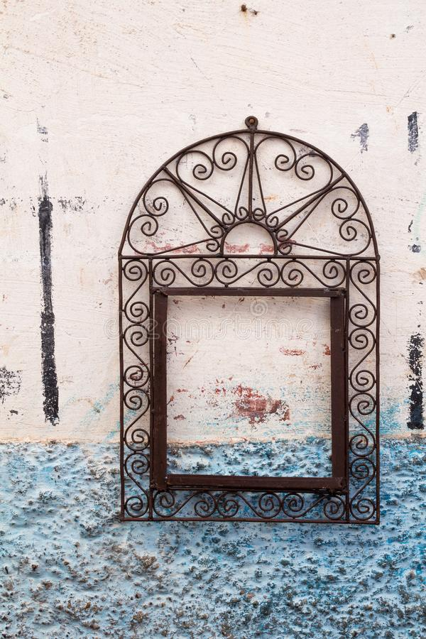 Ornate frame on a wall of a house stock images
