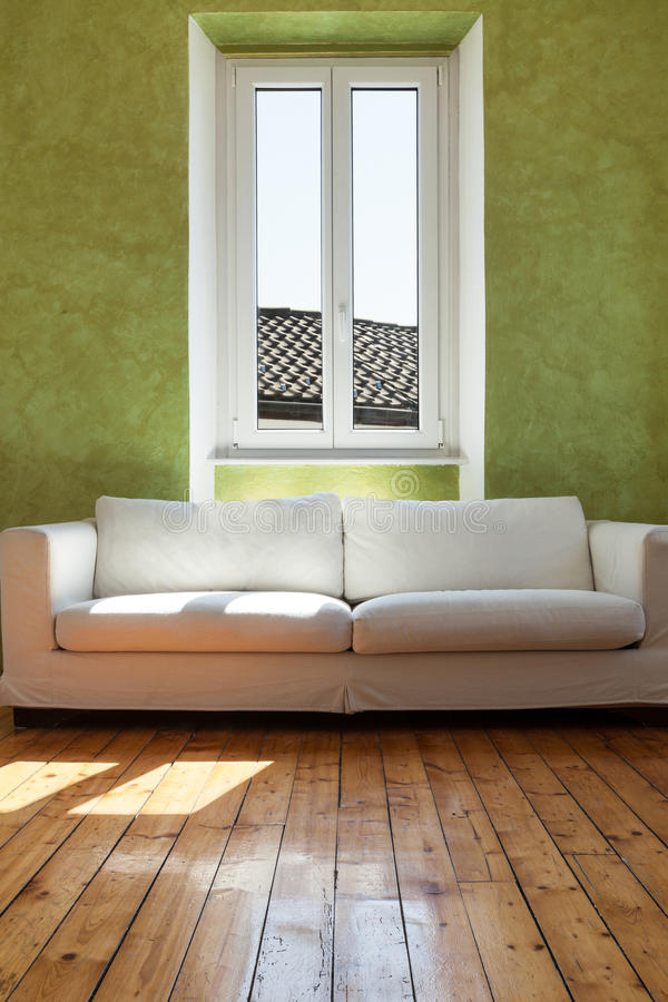 White divan, interior stock photography