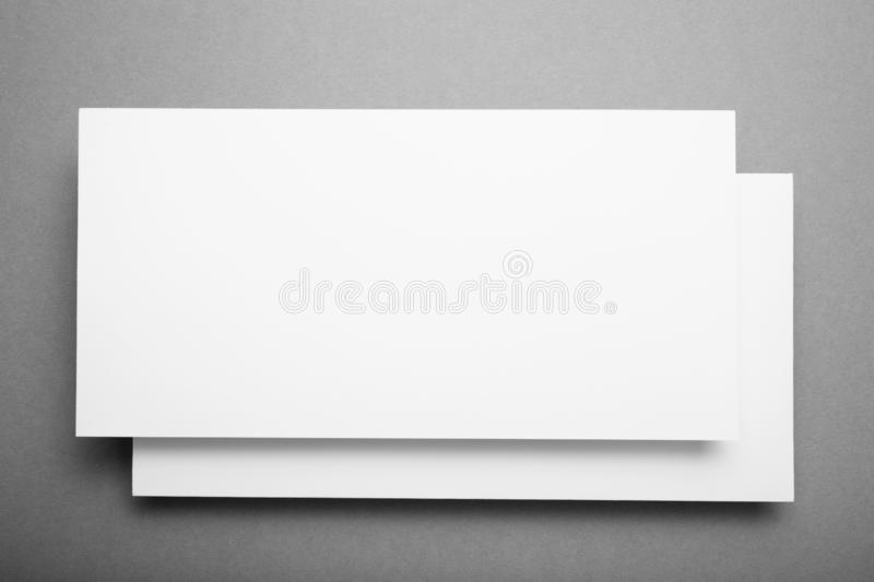 White Dl flyer for identity design, corporate templates, mockup.  stock photos