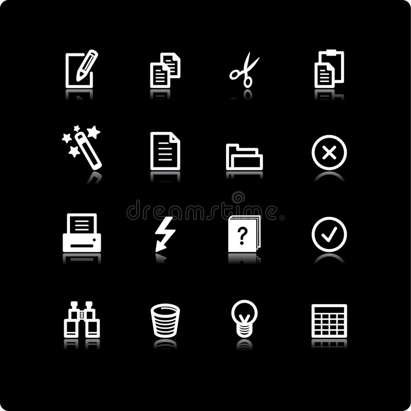 Download White document icons stock illustration. Image of pictogram - 2642039