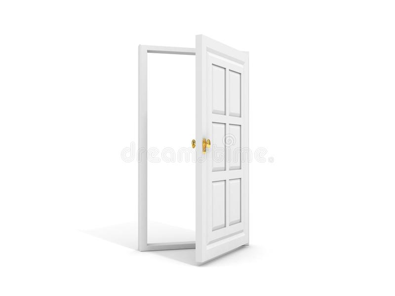 Download White door opened to white stock illustration. Image of border - 20895330
