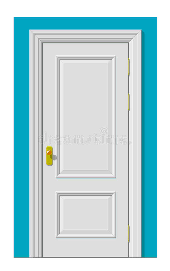White door royalty free illustration