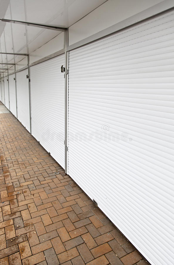 White doors closed