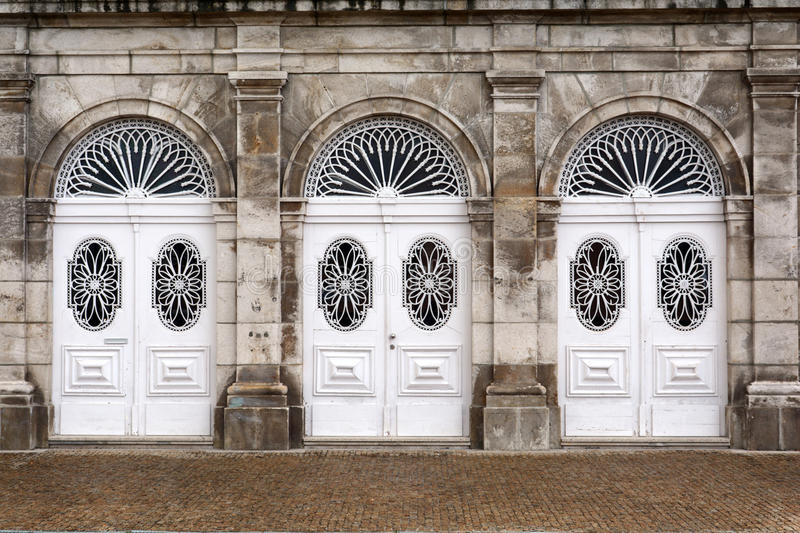 White Doors royalty free stock photos