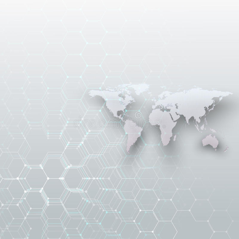 White dotted world map connecting lines and dots on gray color download white dotted world map connecting lines and dots on gray color background chemistry gumiabroncs Choice Image