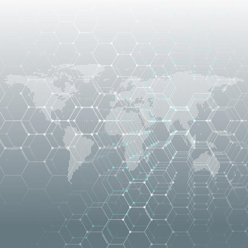White dotted world map connecting lines and dots on gray color download white dotted world map connecting lines and dots on gray color background chemistry gumiabroncs Gallery