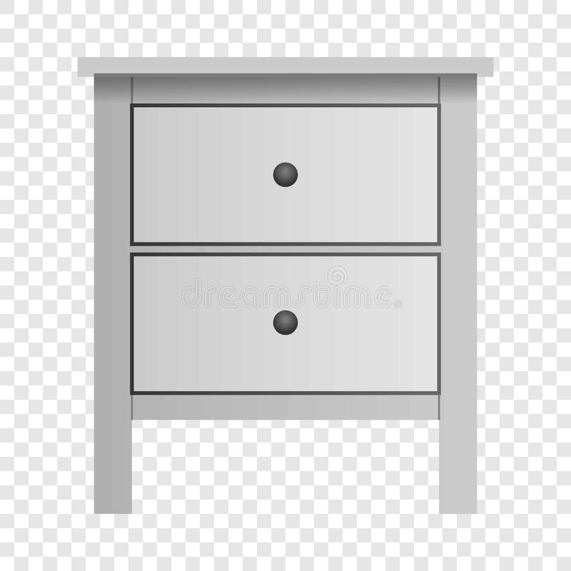 White double drawer mockup, realistic style. White double drawer mockup. Realistic illustration of white double drawer vector mockup for on transparent vector illustration