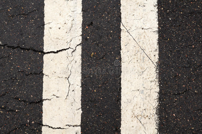 Download White Double-Line Markings On Road Stock Image - Image: 27390743