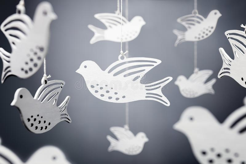 White dove symbol of peace stock images