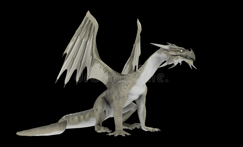 White Dragon Stock Photography