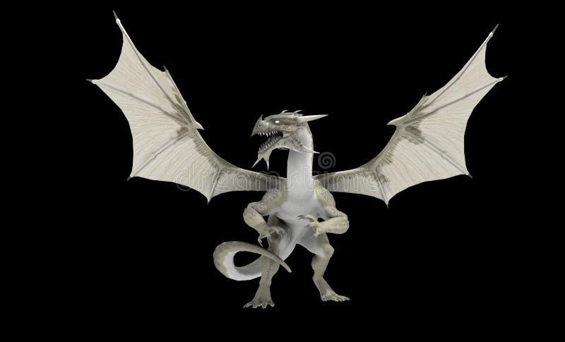 White dragon royalty free illustration