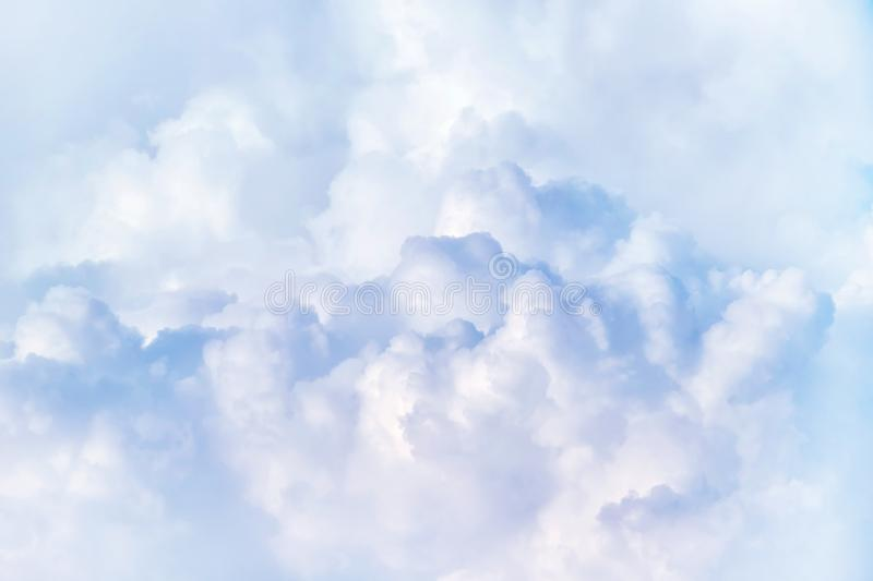 White dramatic cloud in the sky. Dramatic cloud in the white cloudy sky stock image