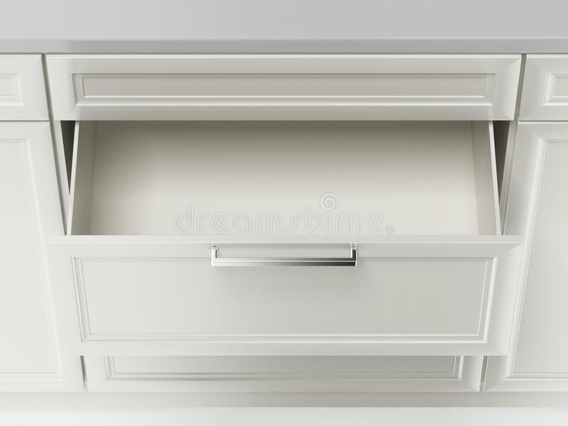 White drawer. Isolated on a white background stock illustration