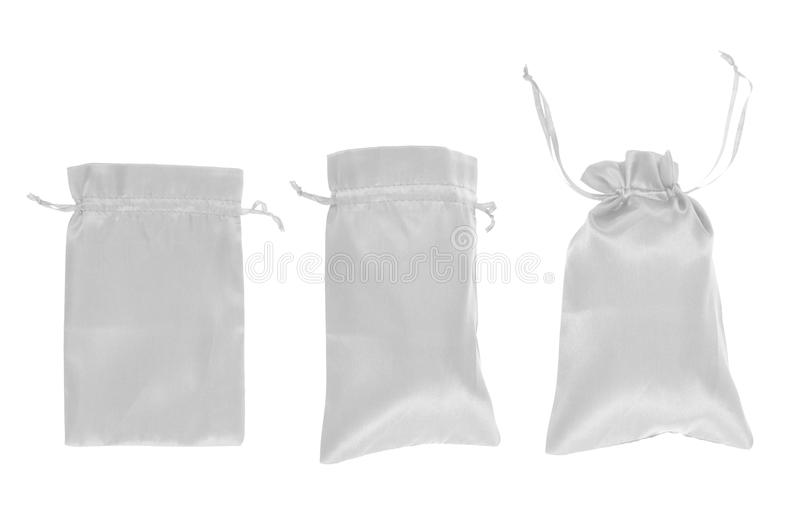 Download White Drawstring Bag Packaging Isolated Stock Image - Image of festive, closed: 45985099