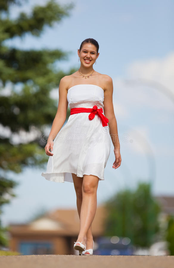 White dress stock photos