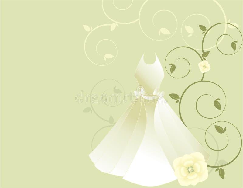 White dress background 2 royalty free illustration