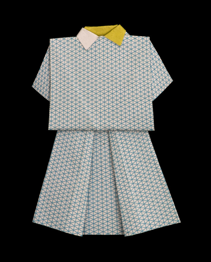 Download White Dress Made of Paper Stock Image - Image: 27622839