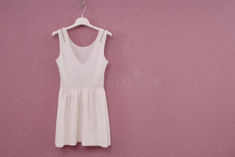 White dress, summery frock, cotton gown, stock images