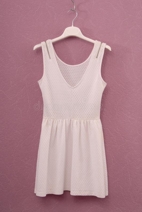 White dress, summery frock, cotton gown, stock photos