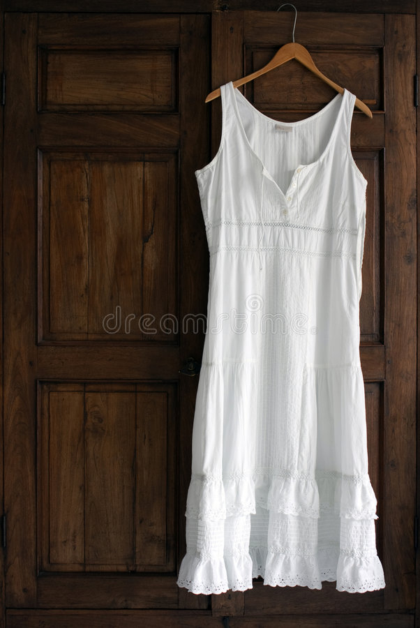 Download White Dress On Wardrobe stock photo. Image of dress, wardrobe - 4693496