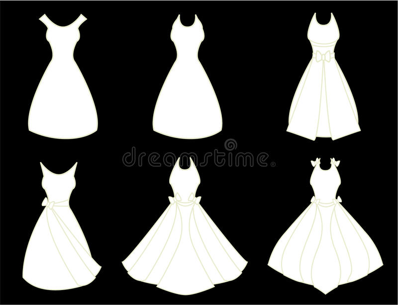 White dresses royalty free illustration