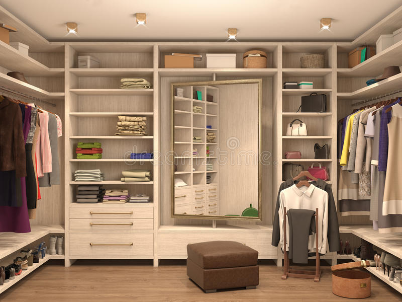 Download White, Dressing Room, Interior Of A Modern House. Stock  Illustration   Illustration