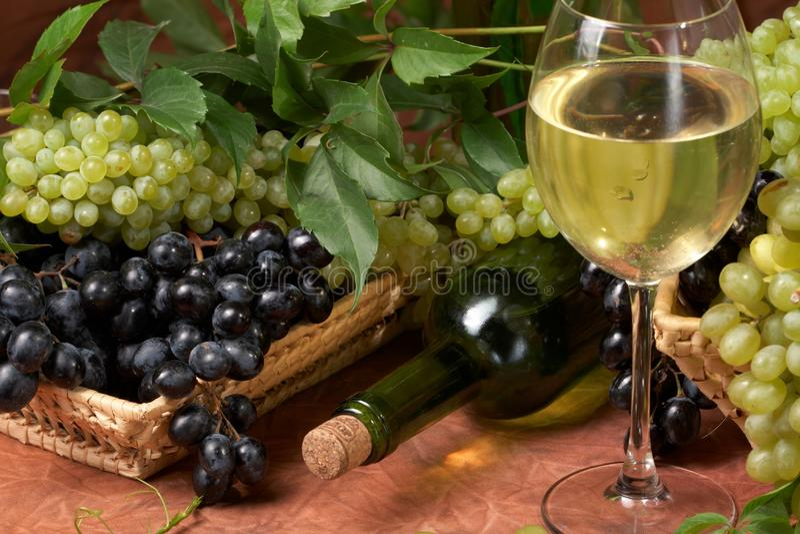 White Dry Wine Stock Photos