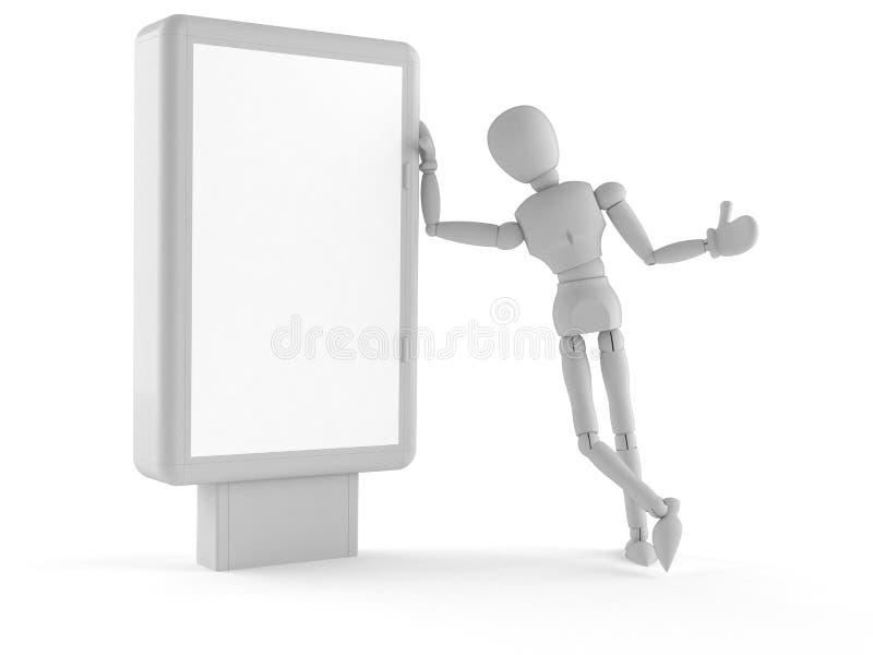 White dummy. On white background vector illustration