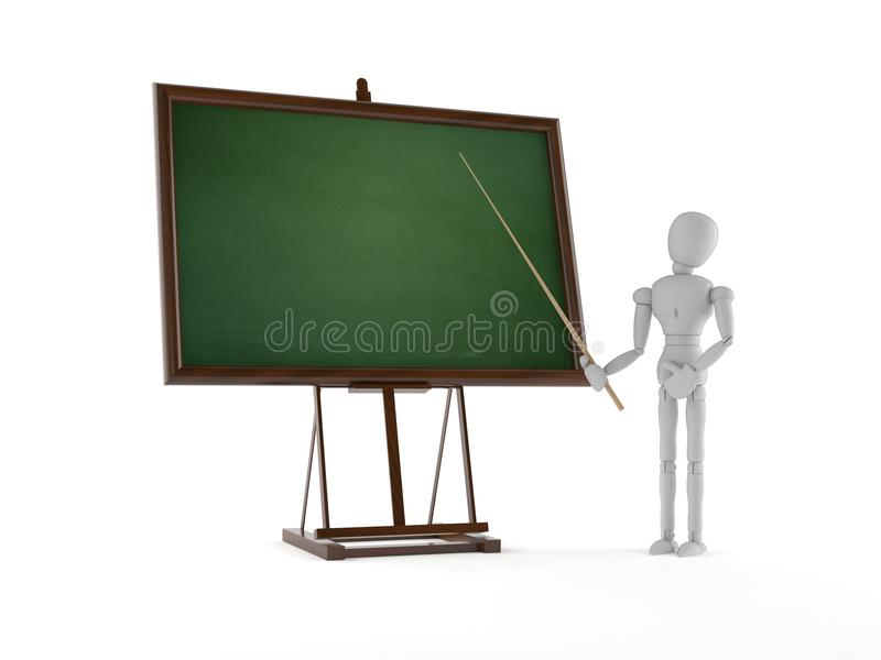 White dummy with blackboard. On white background vector illustration