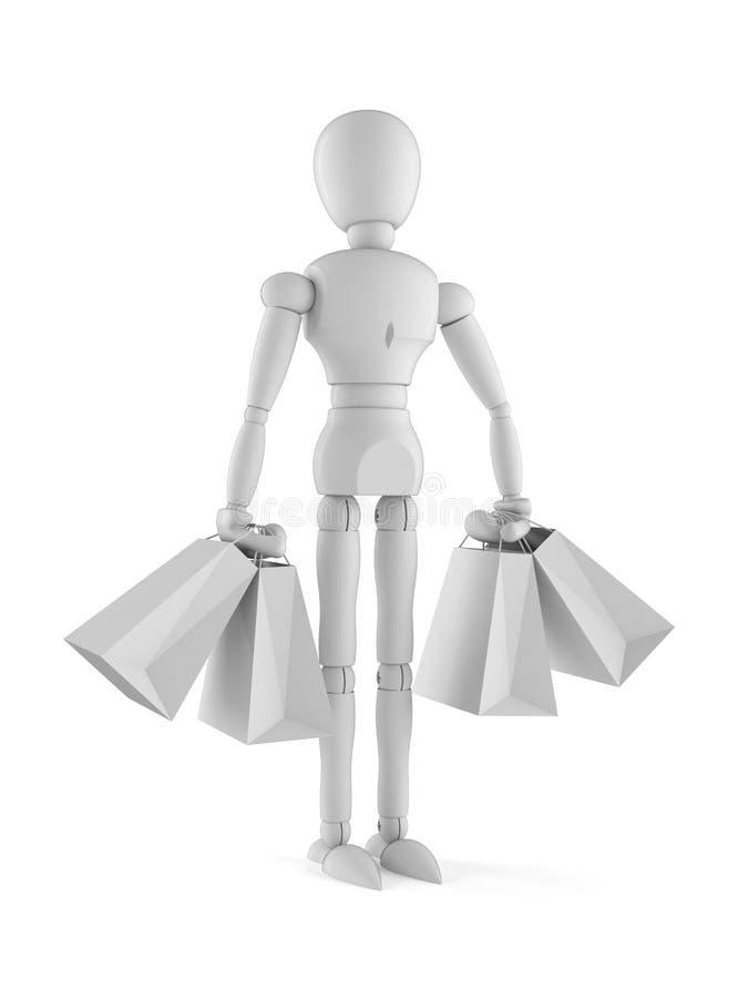 White dummy. Isolated on white background stock illustration