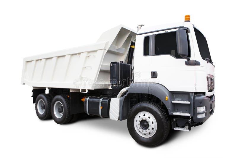 White Dump Truck stock photography