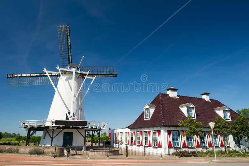 White Dutch windmill
