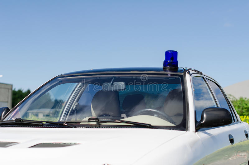 Download White duty car stock image. Image of blue, emergency - 31868357