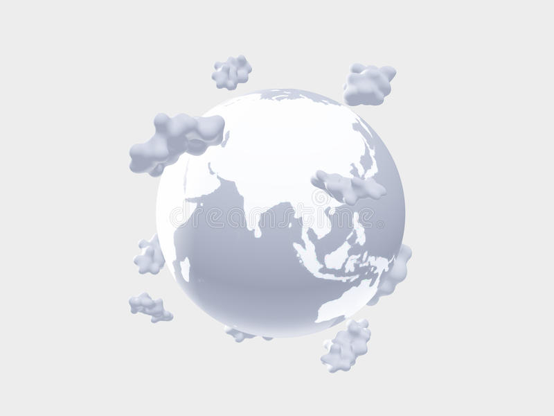 White Earth And Clouds Royalty Free Stock Photo