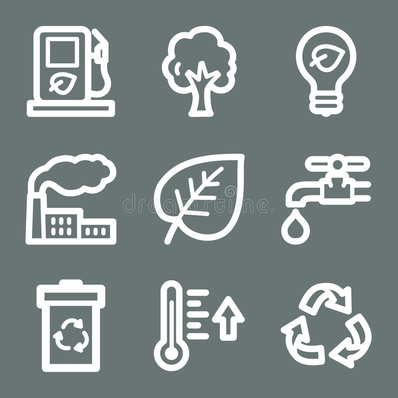 Download White ecology web icons stock vector. Illustration of icon - 6808748