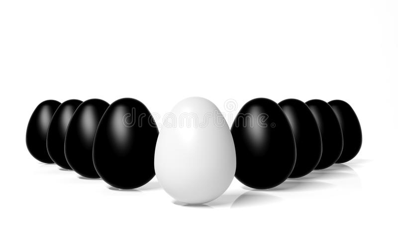 Download White Egg In Front Of Black Eggs Stock Illustration - Illustration of color, business: 27180340