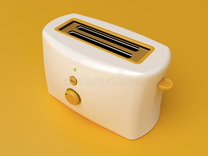 White electric toaster