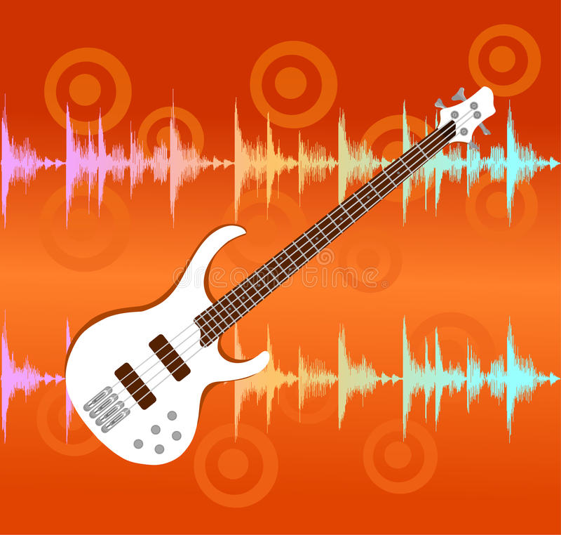 Download White Electro Guitar On Abstract Background Stock Vector - Illustration: 21859564