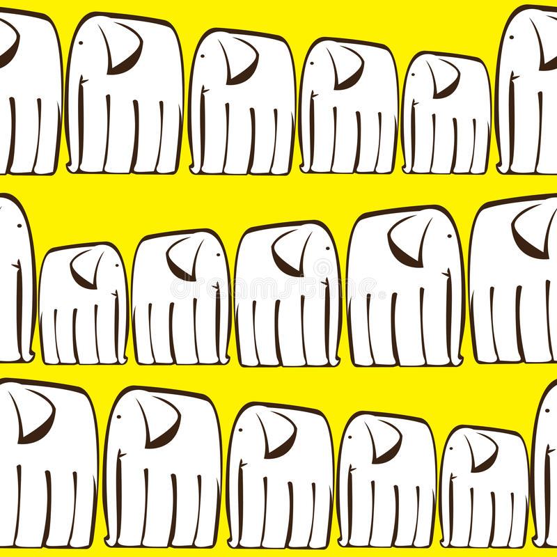 white elephants of seamless pattern stock illustration
