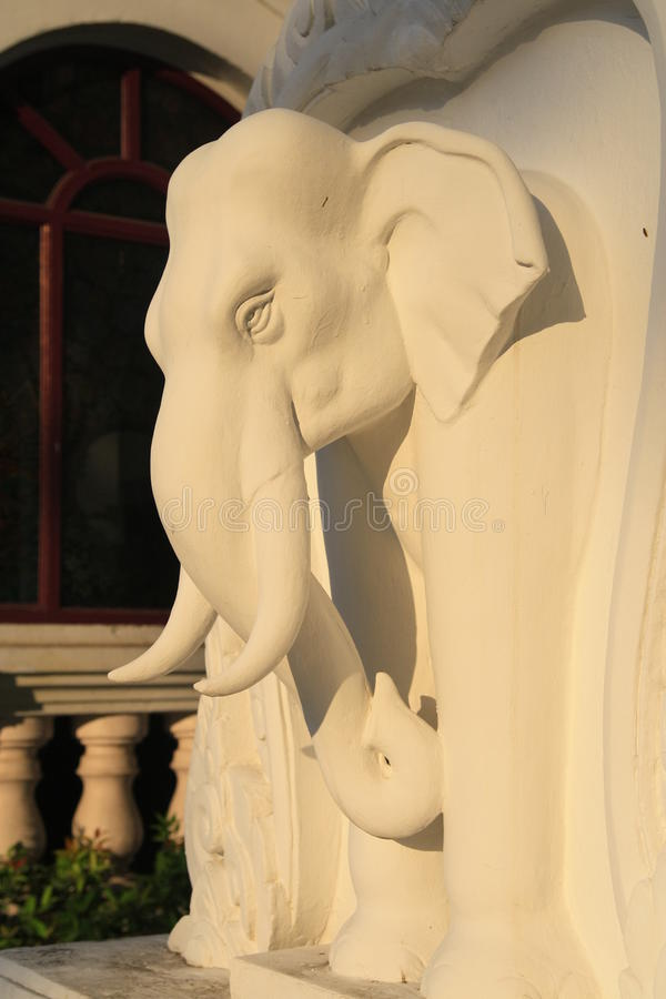 Free White Elephent Of Yupparaj Model Royalty Free Stock Image - 18231236