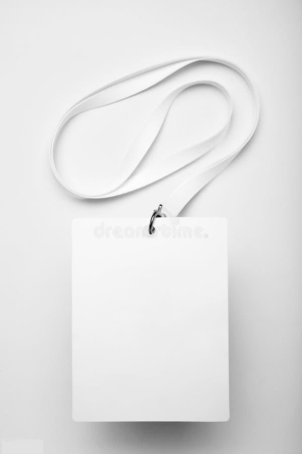 White empty badge card, staff identity mockup.  stock photos