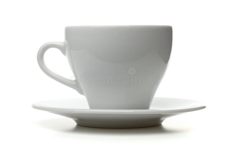White empty espresso cup stock photography