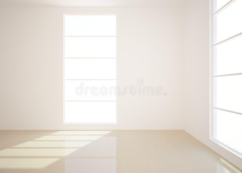 White empty interior royalty free illustration
