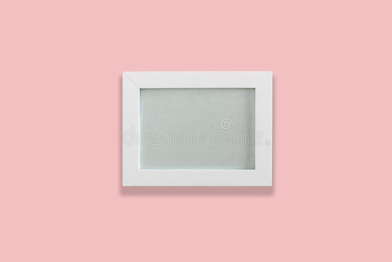 White empty photo frame stock image