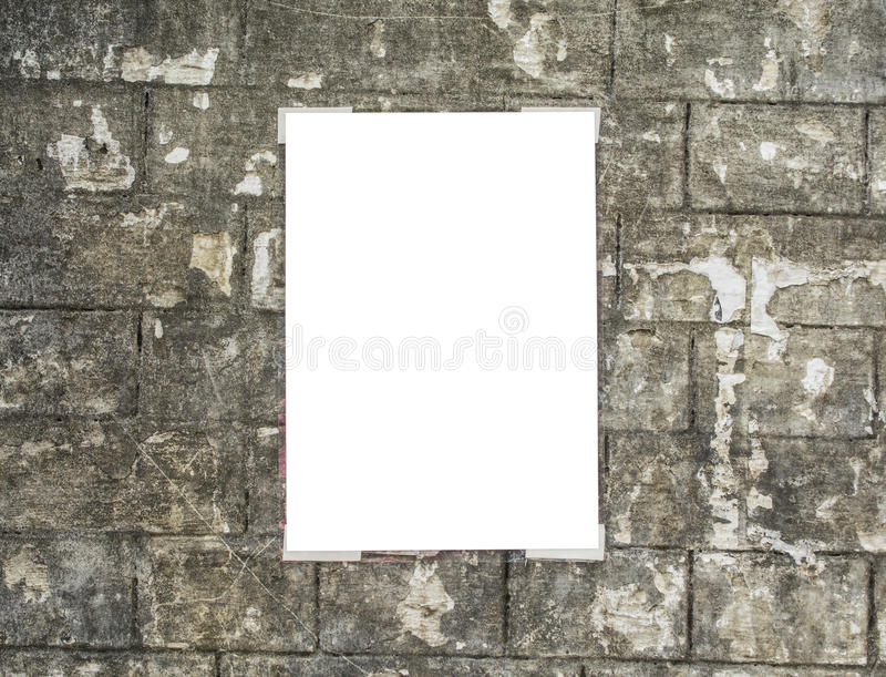White empty placard stock image