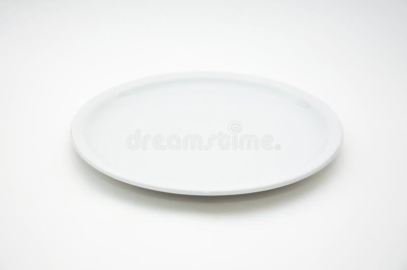 White Empty Plate Stock Photo