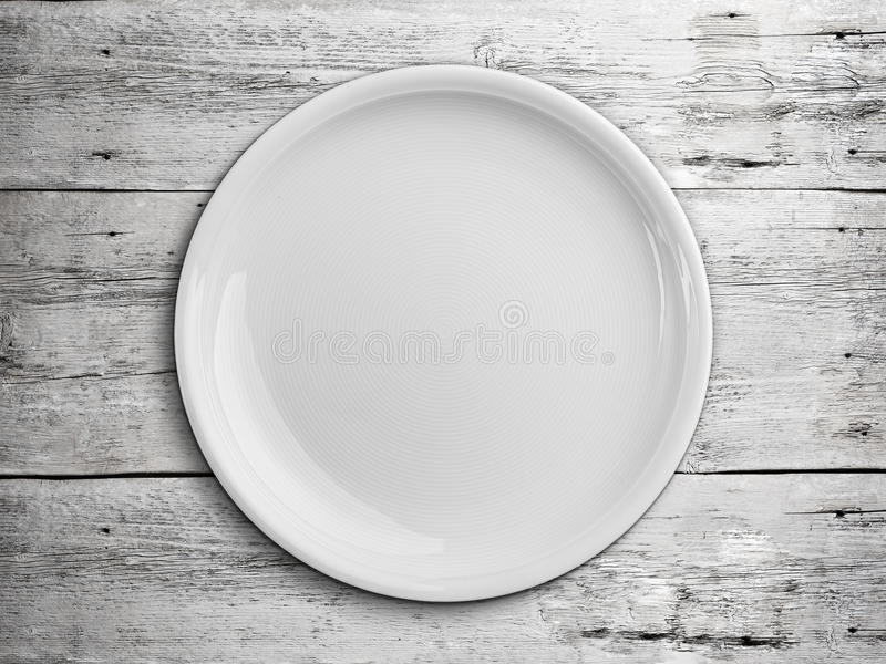 White empty plate royalty free stock photo