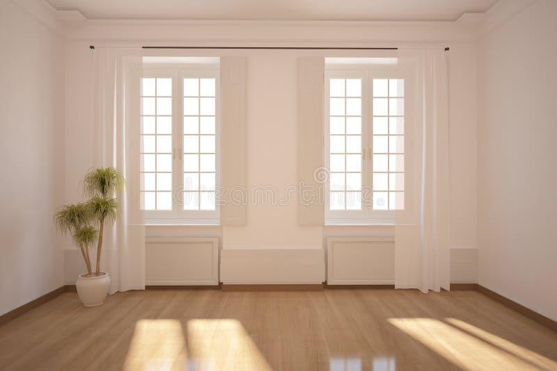 White empty room royalty free illustration