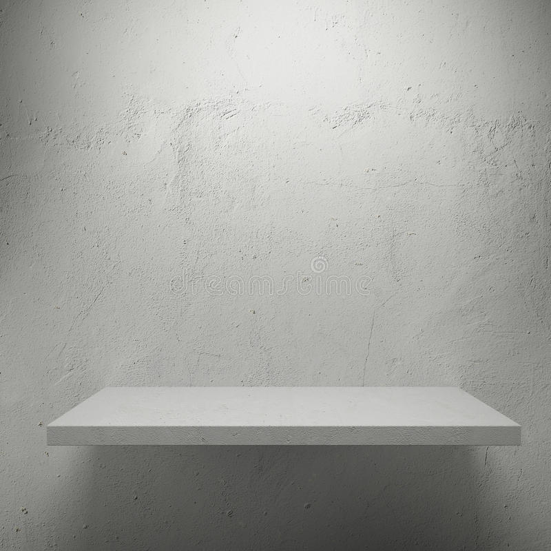 Download White Empty Shelf For Exhibit Stock Image - Image of grey, concrete: 27744217
